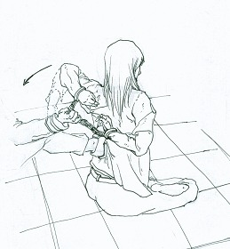 中共酷刑示意图:背后绑手
